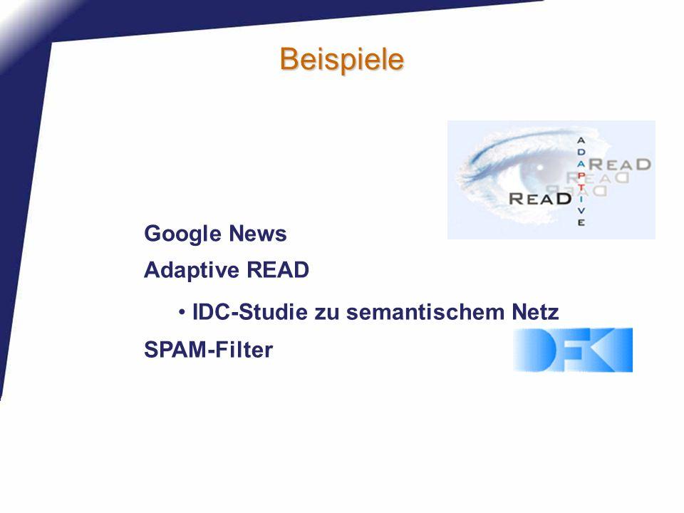 Beispiele Google News Adaptive READ IDC-Studie zu semantischem Netz