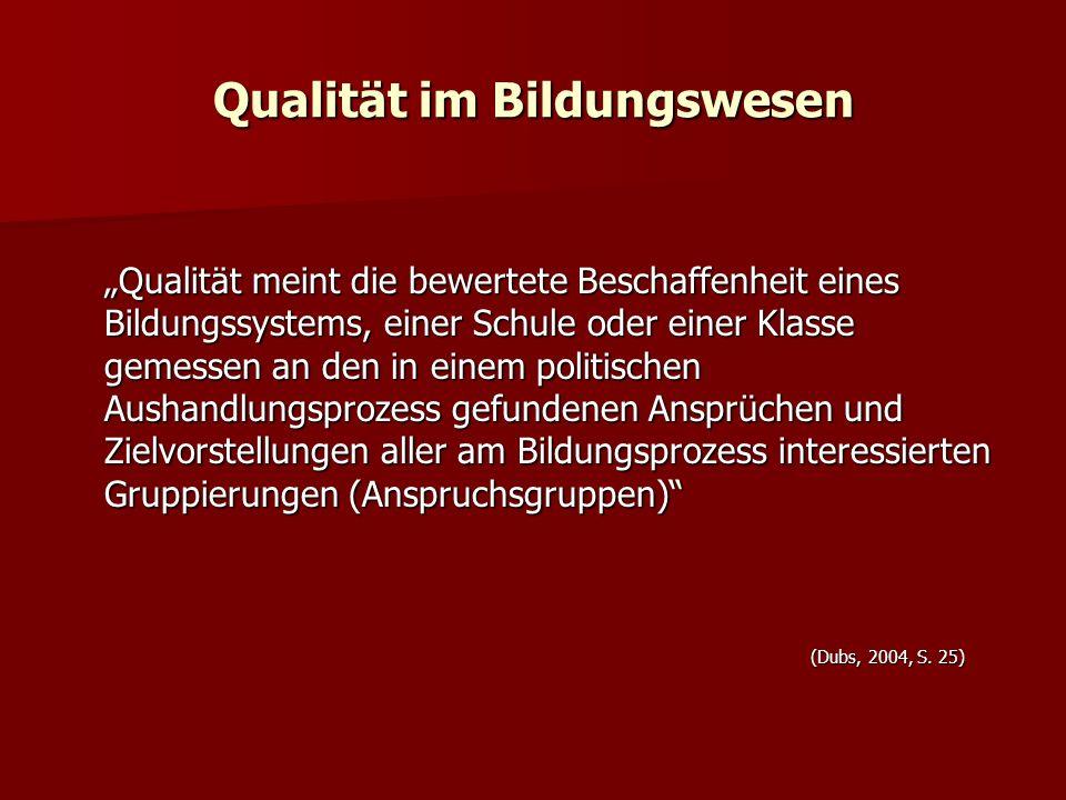 Qualität im Bildungswesen