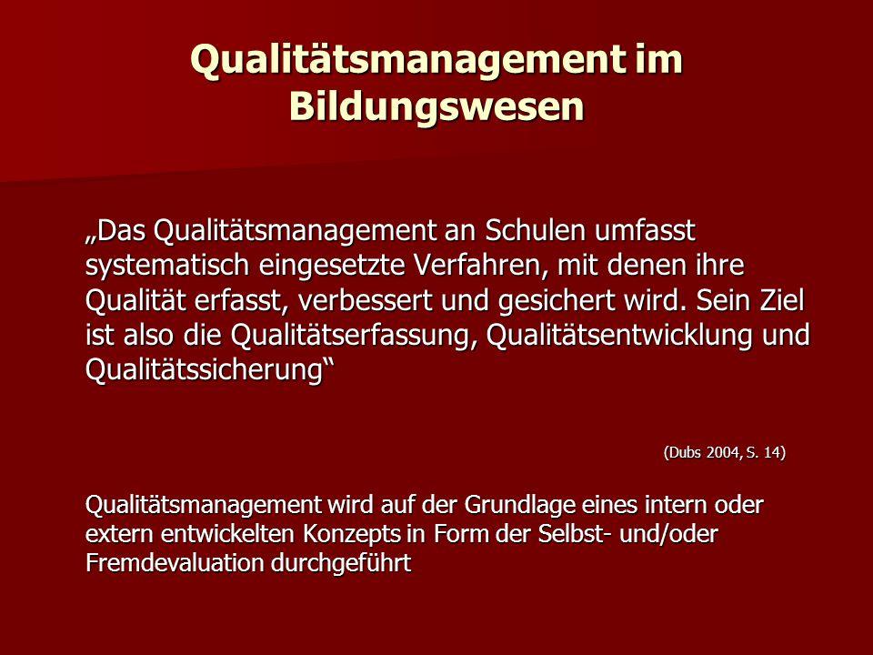 Qualitätsmanagement im Bildungswesen