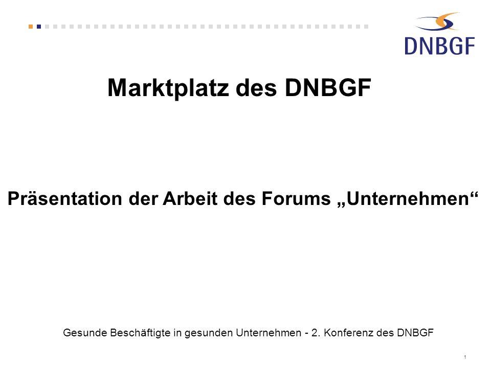 """Präsentation der Arbeit des Forums """"Unternehmen"""