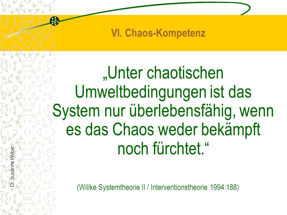 (Willke Systemtheorie II / Interventionstheorie 1994:188)