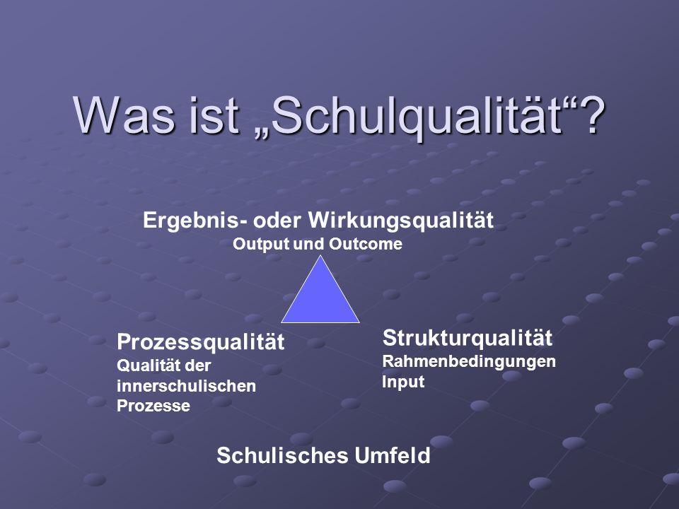 """Was ist """"Schulqualität"""