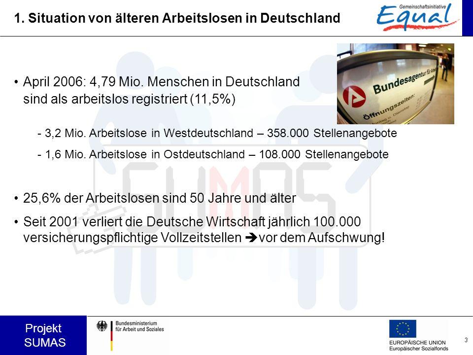 1. Situation von älteren Arbeitslosen in Deutschland