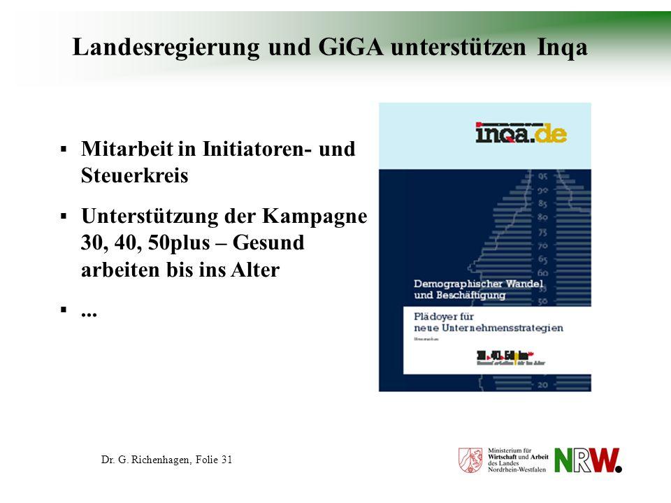 Landesregierung und GiGA unterstützen Inqa