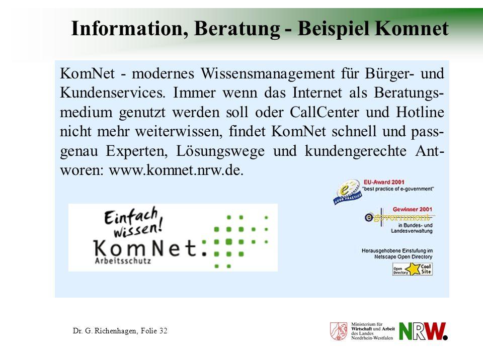 Information, Beratung - Beispiel Komnet