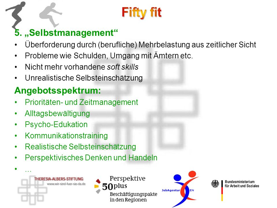 """5. """"Selbstmanagement Angebotsspektrum:"""