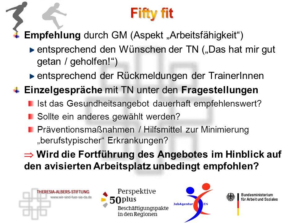 """Empfehlung durch GM (Aspekt """"Arbeitsfähigkeit )"""