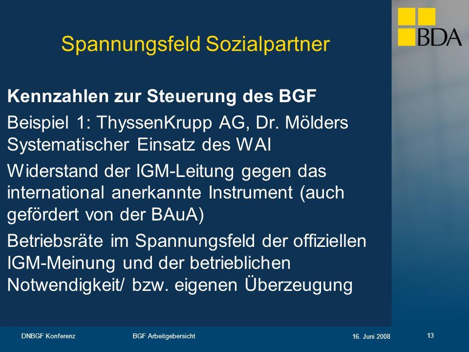 Spannungsfeld Sozialpartner