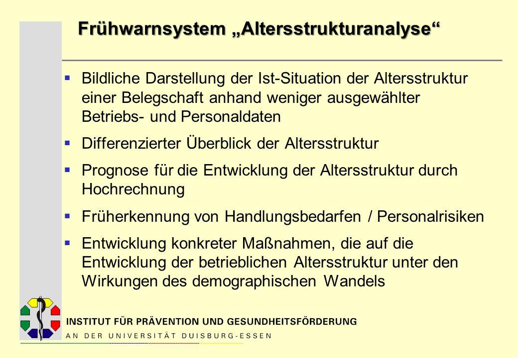 """Frühwarnsystem """"Altersstrukturanalyse"""