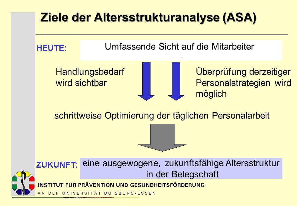 Ziele der Altersstrukturanalyse (ASA)