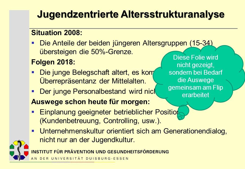Jugendzentrierte Altersstrukturanalyse