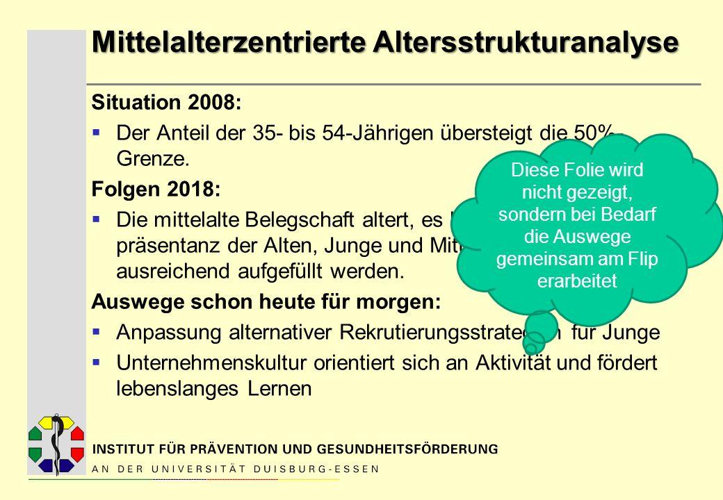 Mittelalterzentrierte Altersstrukturanalyse