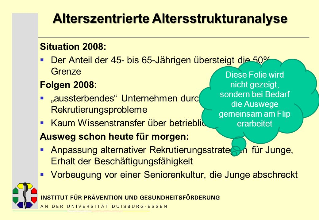Alterszentrierte Altersstrukturanalyse