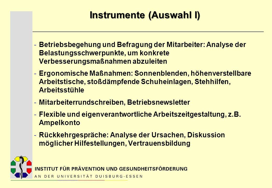 Instrumente (Auswahl I)