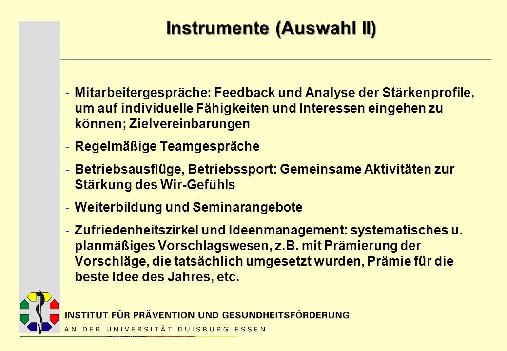 Instrumente (Auswahl II)