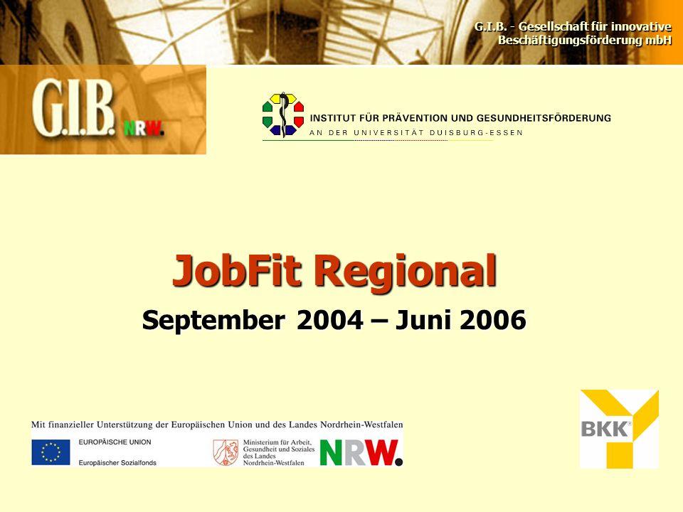JobFit Regional September 2004 – Juni 2006