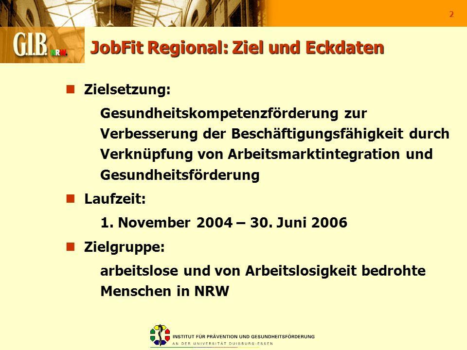 JobFit Regional: Ziel und Eckdaten