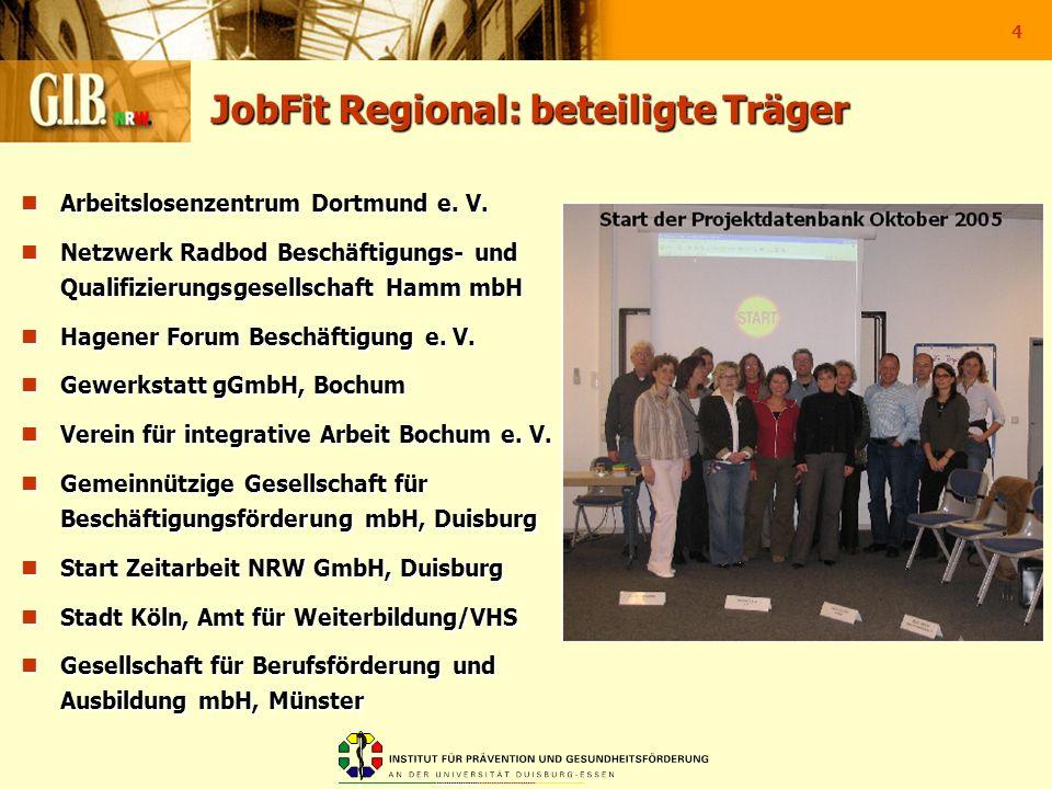 JobFit Regional: beteiligte Träger