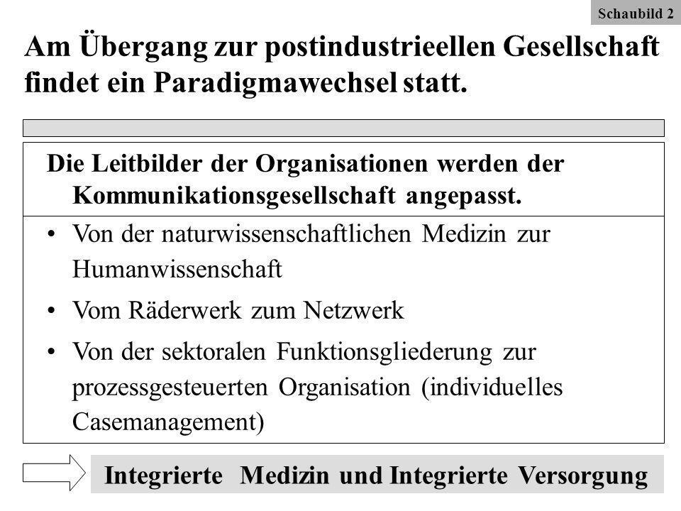 Schaubild 2 Am Übergang zur postindustrieellen Gesellschaft findet ein Paradigmawechsel statt.