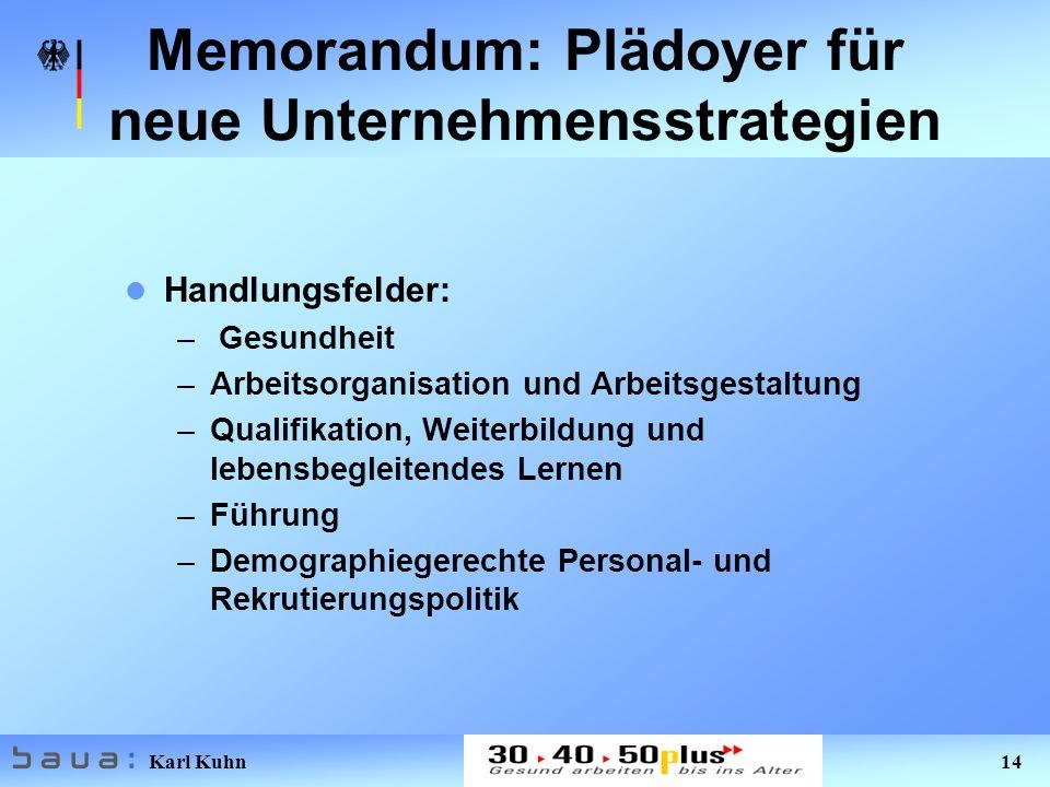 Memorandum: Plädoyer für neue Unternehmensstrategien