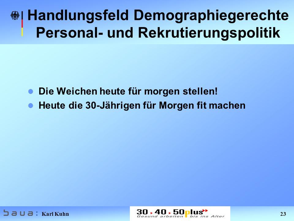Handlungsfeld Demographiegerechte Personal- und Rekrutierungspolitik