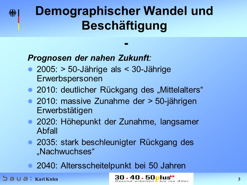 Demographischer Wandel und Beschäftigung -