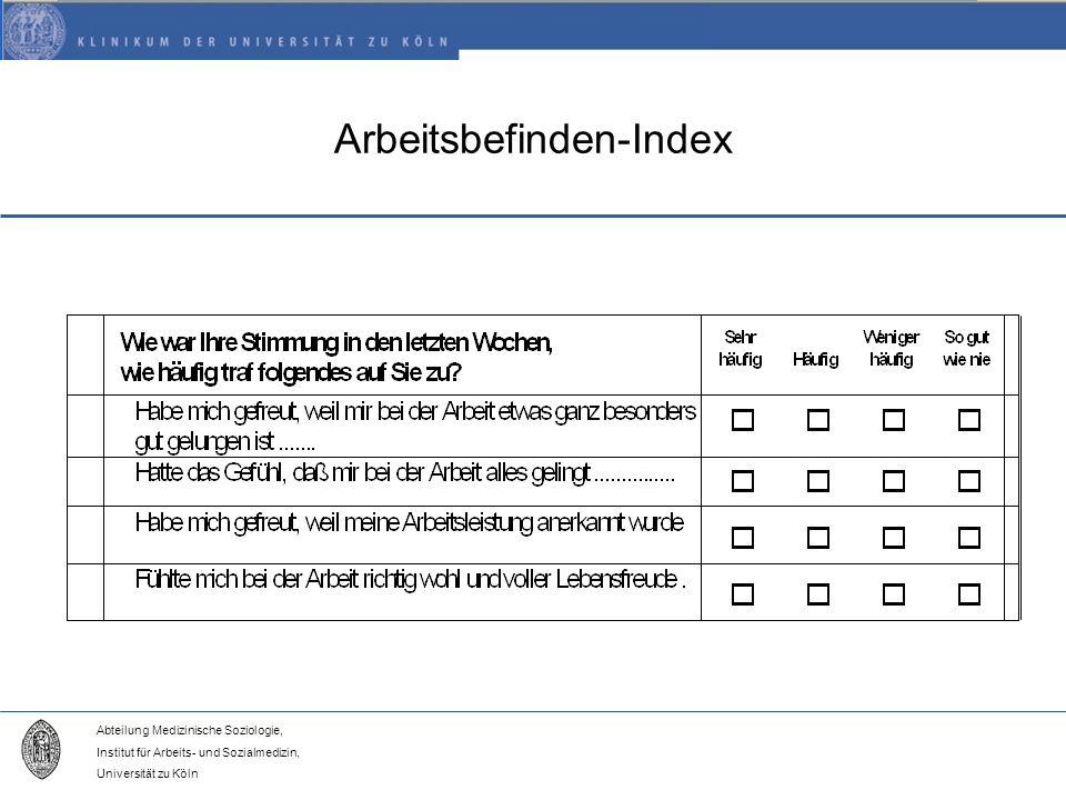 Arbeitsbefinden-Index