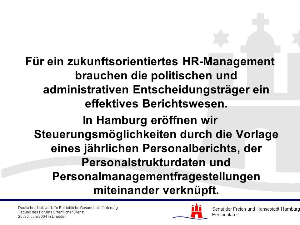 Für ein zukunftsorientiertes HR-Management brauchen die politischen und administrativen Entscheidungsträger ein effektives Berichtswesen.