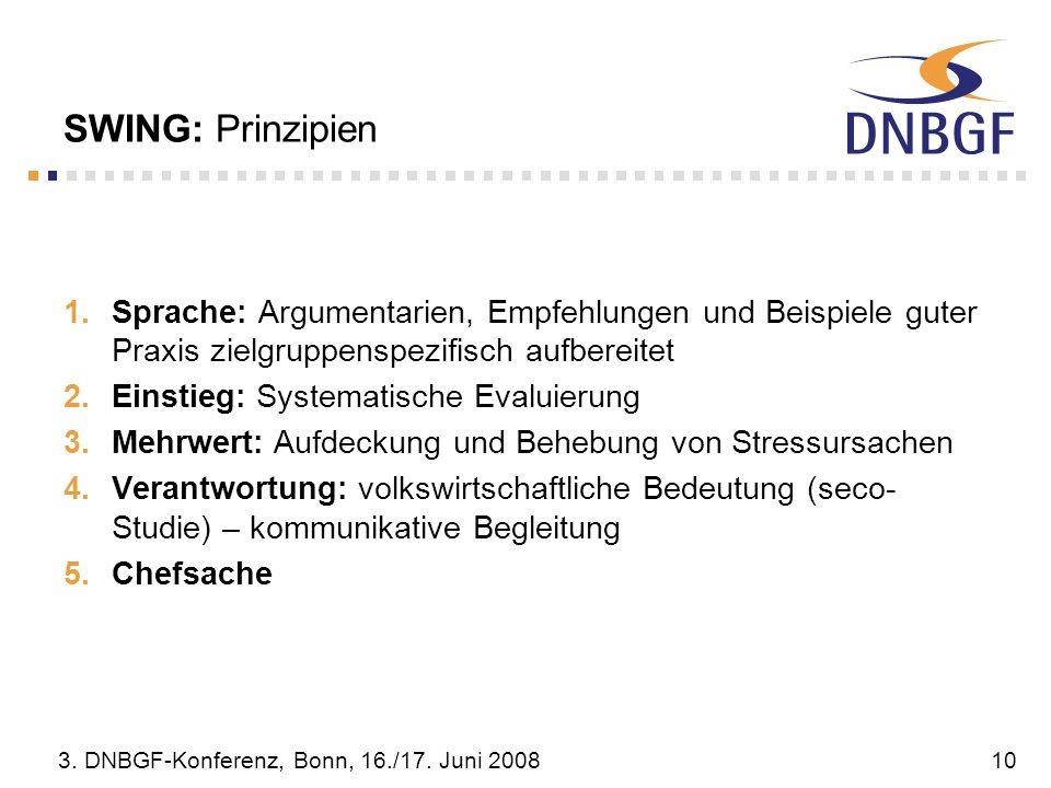 SWING: Prinzipien Sprache: Argumentarien, Empfehlungen und Beispiele guter Praxis zielgruppenspezifisch aufbereitet.