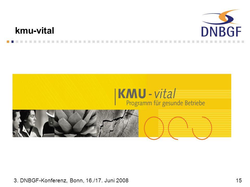 kmu-vital 3. DNBGF-Konferenz, Bonn, 16./17. Juni 2008