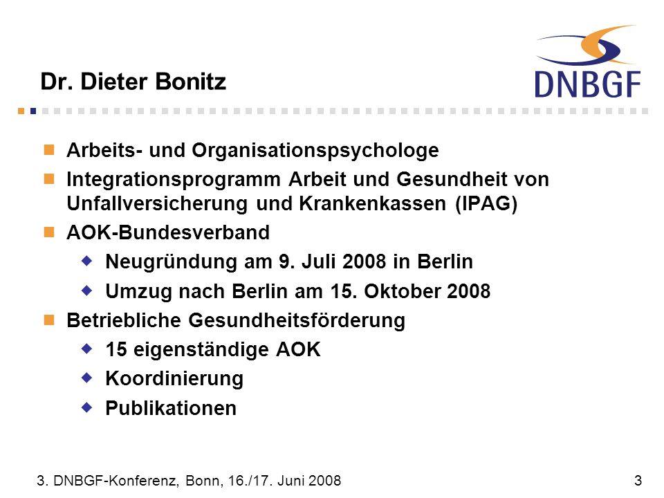 Dr. Dieter Bonitz Arbeits- und Organisationspsychologe