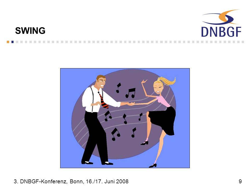 SWING 3. DNBGF-Konferenz, Bonn, 16./17. Juni 2008