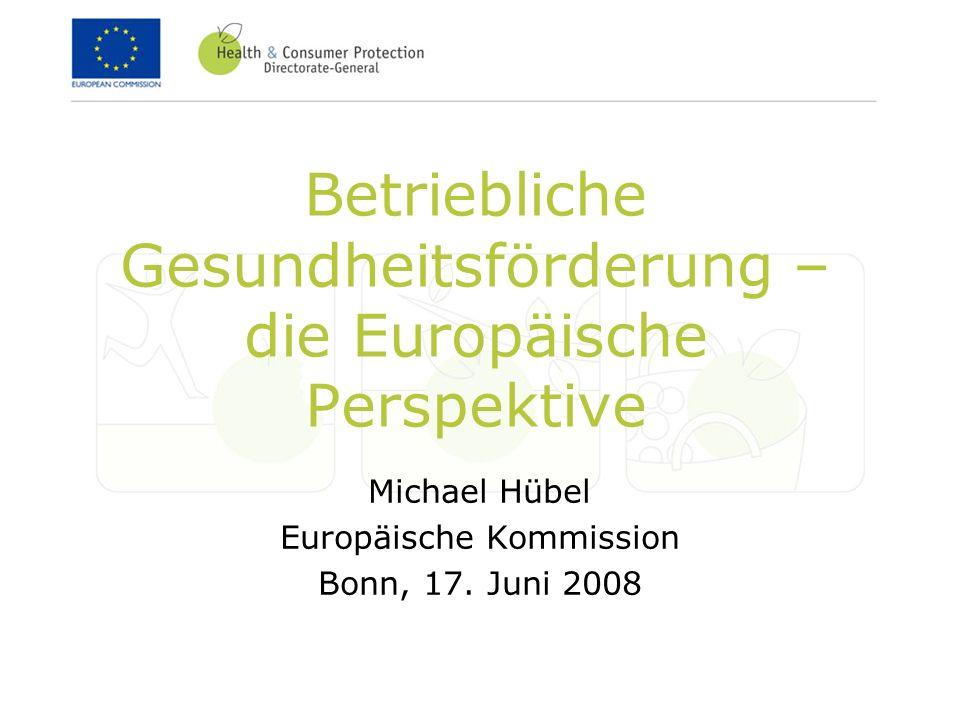 Betriebliche Gesundheitsförderung – die Europäische Perspektive