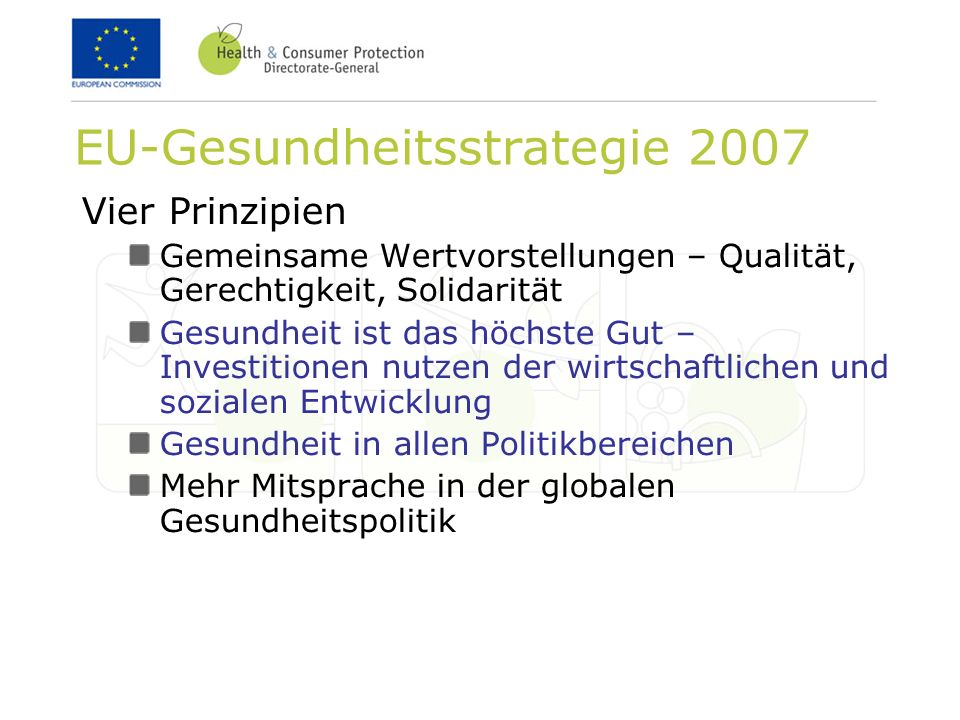 EU-Gesundheitsstrategie 2007