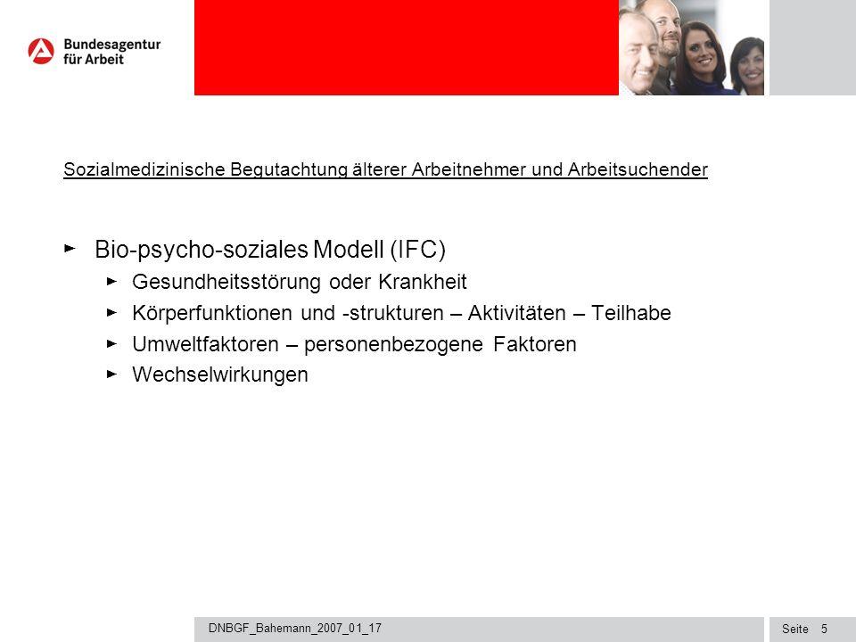 Bio-psycho-soziales Modell (IFC)