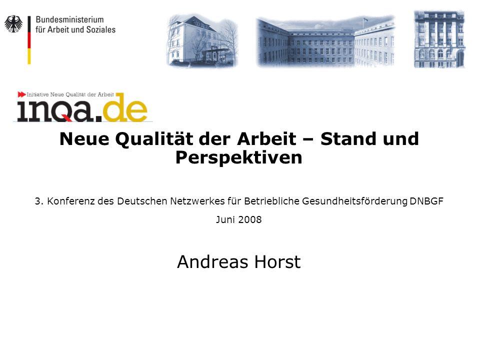 Neue Qualität der Arbeit – Stand und Perspektiven
