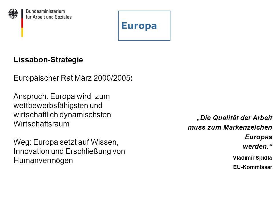 Europa Lissabon-Strategie Europäischer Rat März 2000/2005: