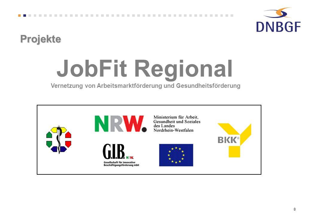 Projekte JobFit Regional Vernetzung von Arbeitsmarktförderung und Gesundheitsförderung