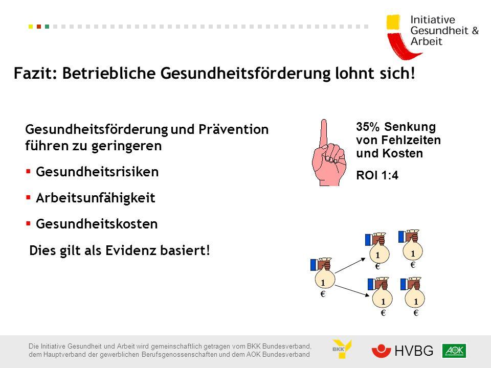 Fazit: Betriebliche Gesundheitsförderung lohnt sich!