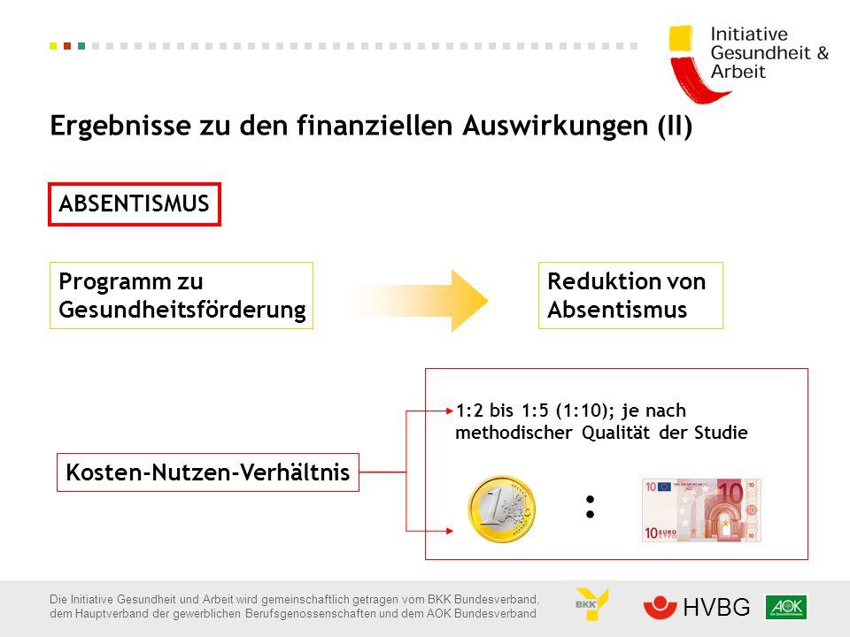 Ergebnisse zu den finanziellen Auswirkungen (II)