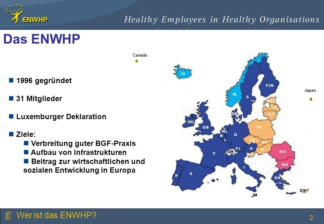 Das ENWHP Wer ist das ENWHP 1996 gegründet 31 Mitglieder