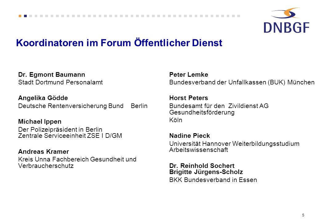 Koordinatoren im Forum Öffentlicher Dienst