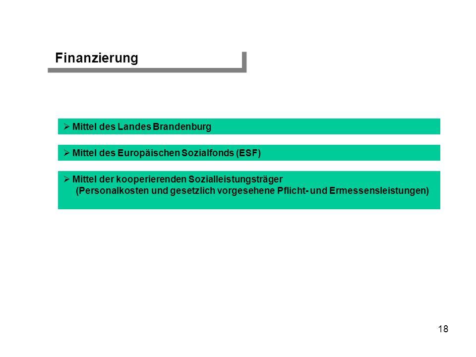 Finanzierung Mittel des Landes Brandenburg