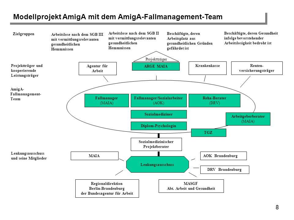 Modellprojekt AmigA mit dem AmigA-Fallmanagement-Team