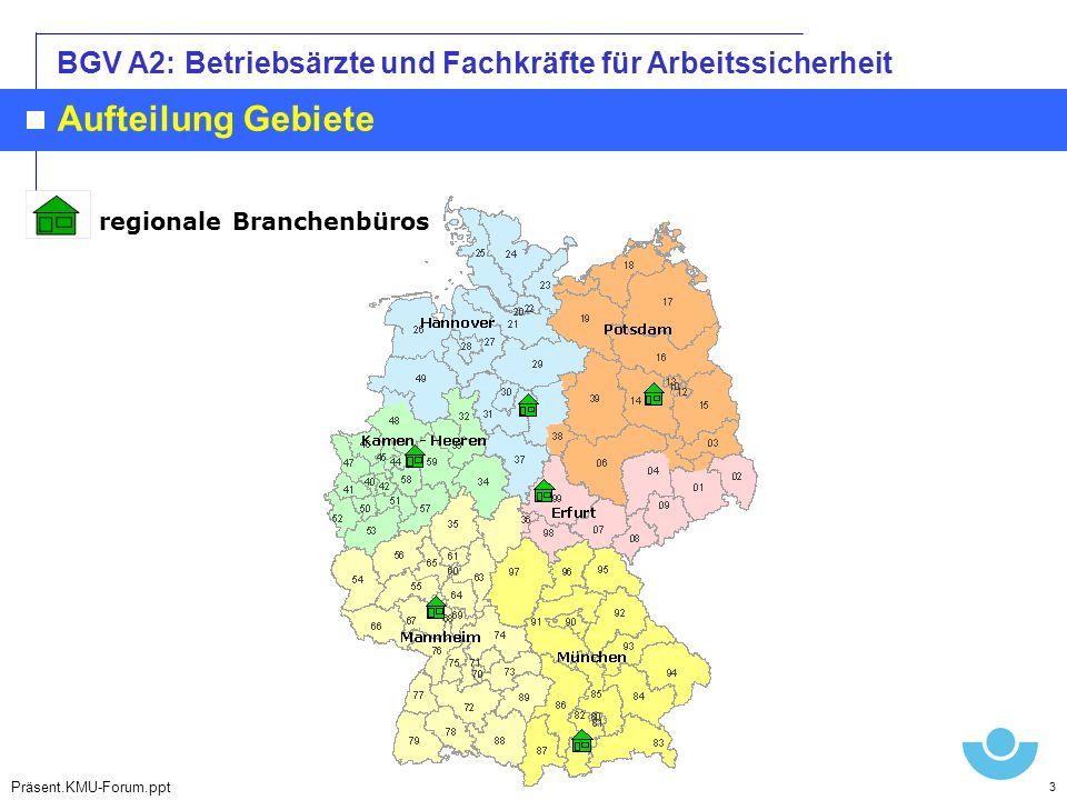 Aufteilung Gebiete regionale Branchenbüros Hannover Mannheim