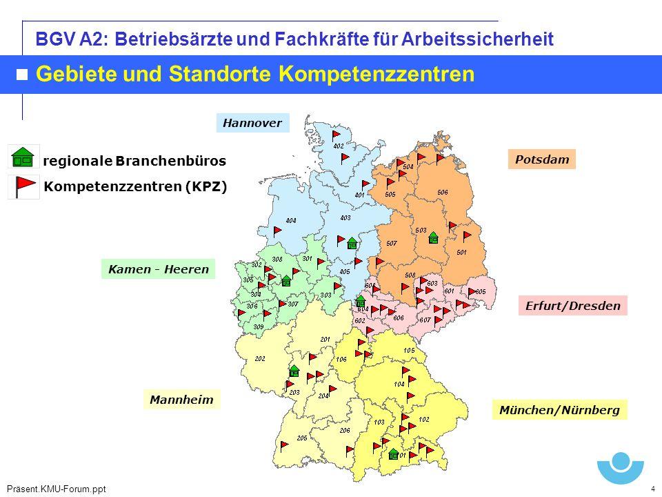 Gebiete und Standorte Kompetenzzentren