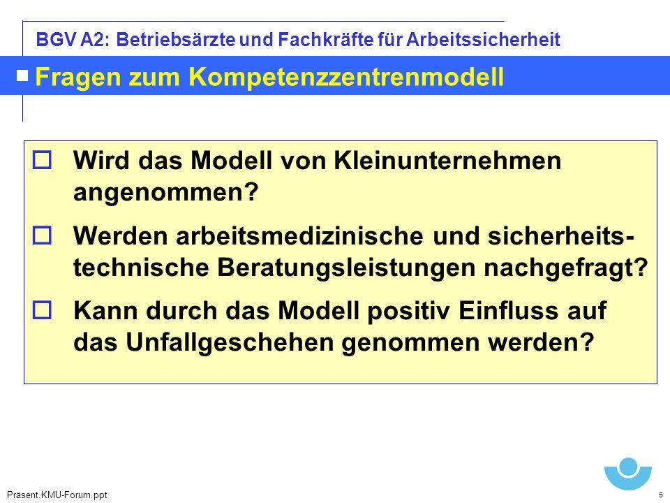 Fragen zum Kompetenzzentrenmodell