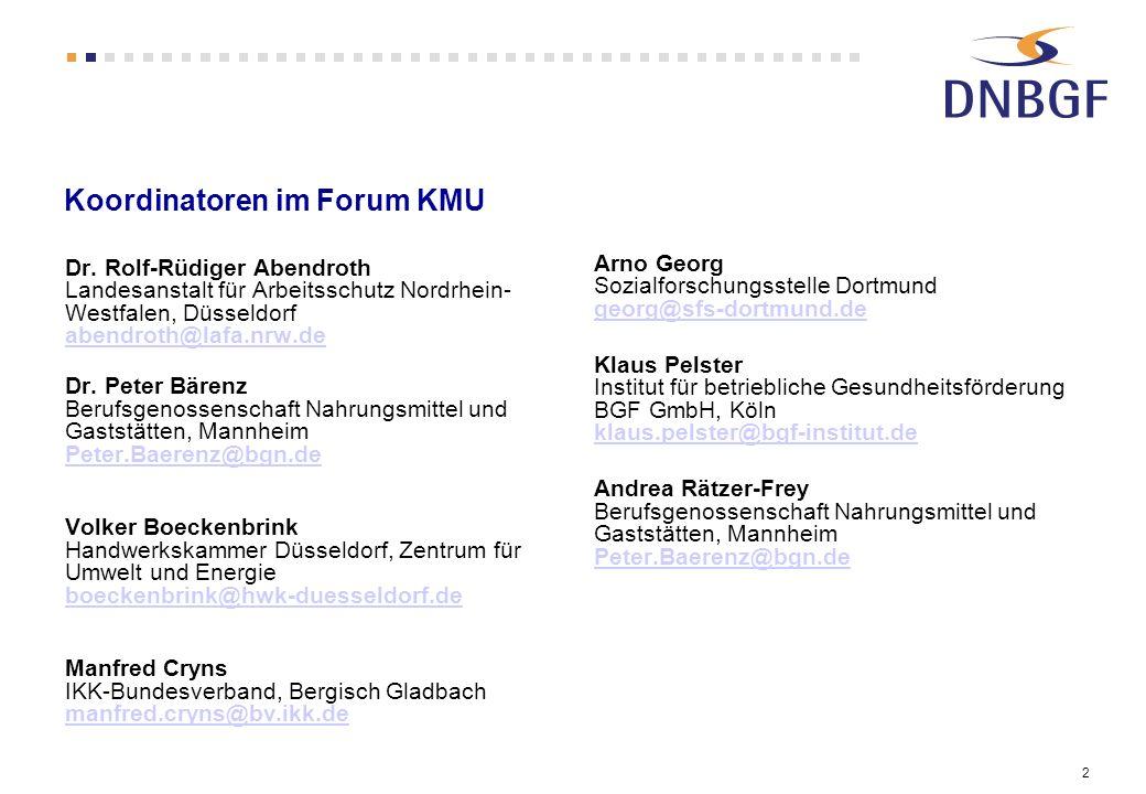 Koordinatoren im Forum KMU