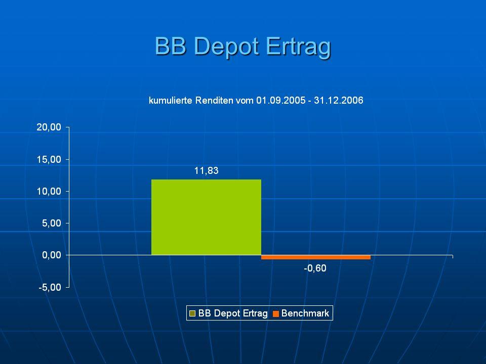 BB Depot Ertrag