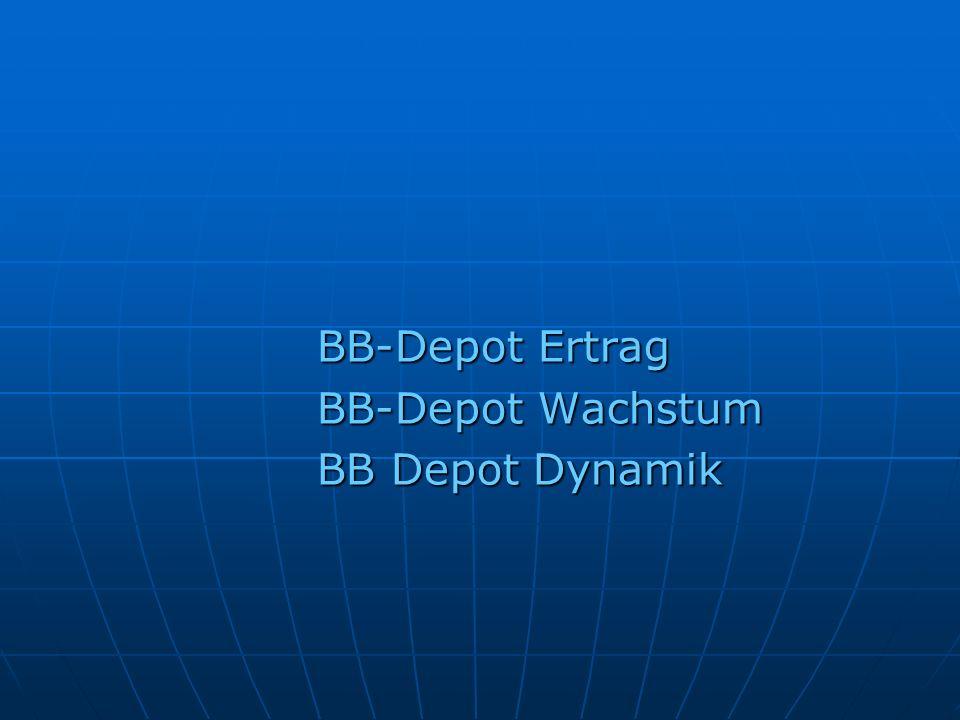 BB-Depot Ertrag BB-Depot Wachstum BB Depot Dynamik